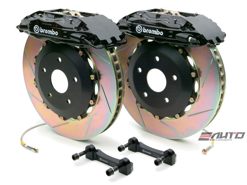Brembo Front Gt Brake 4pot Black 355x32 Slot Stealth R/t Awd 3000gt Vr4 91-99