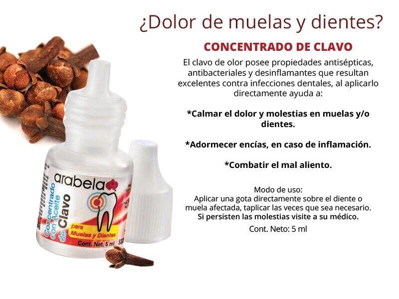Dolor de muela eliminalo con el concentrado de aceite de clavo de Arabela 5ml 1