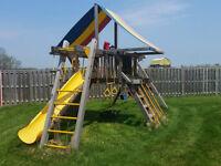 Outdoor playground, Swingset, Slide, playground equipment,