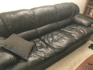 Real Leather Sofa & Loveseat