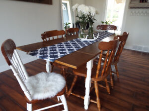 Teak Table and Four Chairs