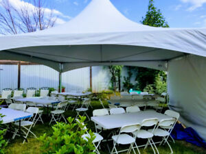 Tent rentals party chairs tables