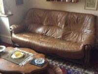 BEST OFFER! Leather 2 seater sofa