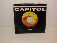 Beatles 45rpm All My Loving & sleeve -  original Capitol Records