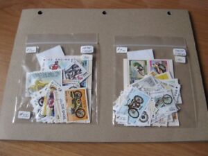 POSTAGE STAMPS - MOTORCYCLES