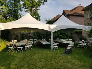 Tables chairs tents rental