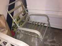 6 Set Recliner Patio Chairs + 2 ottoman. Frame Only (Best Offer)