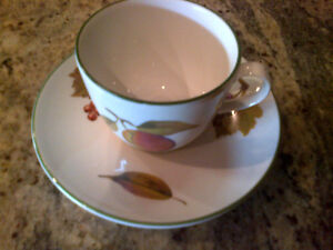 Royal Worcester espresso coffee cups and saucers