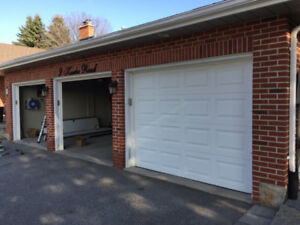 9 x 7 Garage Doors Great shape (3 of them with tracks)