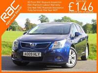 2009 Toyota Avensis 2.0 D-4D Turbo Diesel T4 6 Speed Estate Full Leather Heated