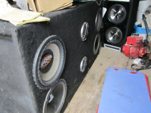 Professionally built sub box for 90s chev truck