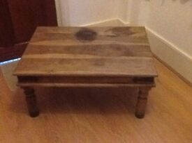An old coffee table