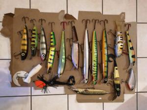 Assorted Muskie Bait, Lures, Gear