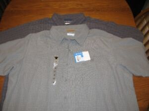 COLUMBIA  SHIRTS  **NEW  WITH  TAGS**