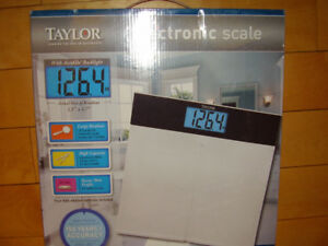 "TAYLOR Electronic Scale with Accu-Glo Backlight - Only .5"" Thick"