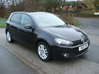 VOLKSWAGEN GOLF 2.0TDI 140 6 SPEED GT BLUEMOTION TECHNOLOGY £20 ROAD TAX