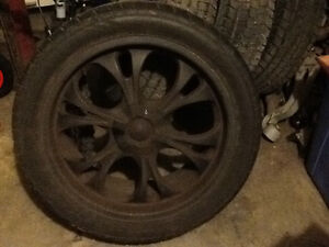 Summer wheels and tires 305 /40 R22 1300.00 obo