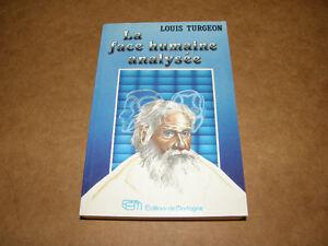Livre La Face Humaine Analysée - Louis Turgeon - 8$