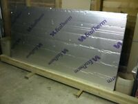 Sheet new 50mm foam insulation 1.2 x 2.4m, like celotex/Ecotherm/ Kingspan