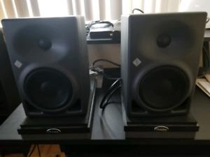 Neumann KH120 Studio reference monitors w/ auralex monitor pads