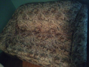 Loveseat pullout sofa bed
