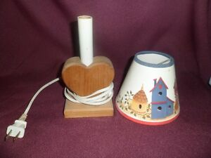 Wood Heart Shape lamp Kawartha Lakes Peterborough Area image 2