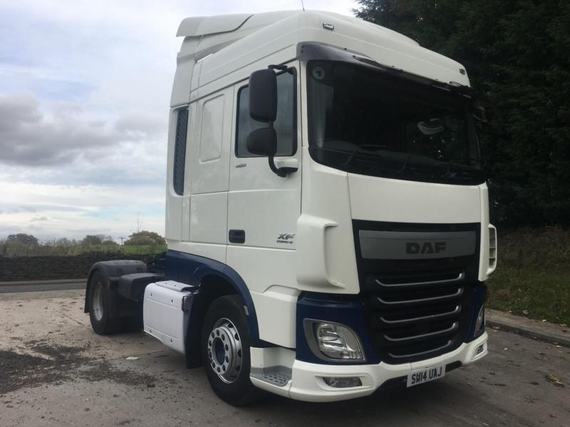 2014 14 DAF XF 106.460 EURO 6 4x2 space cab tractor unit