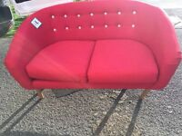 Two seater sofa red NEW (ex-display)