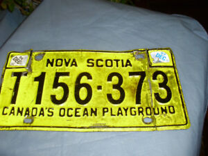 License plate, trailer, NS, 1996/97