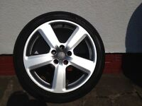 "Audi A3 A4 S line wheel and tyre 18"" x1"