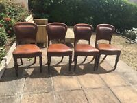 4x antique chairs