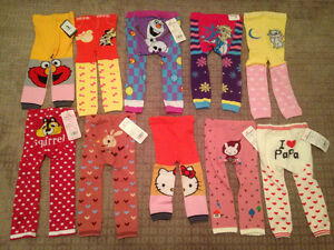 NEW Leggings, leg-warmers, foot flowers and headbands
