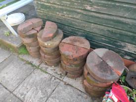 48 Half round brick coping stones.