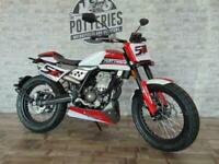 FB Mondial Flat Track 125cc custom classic retro cafe racer style motorcycle