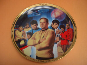 STAR TREK 25TH ANNIVERSARY COMMEMORATIVE PLATE WITH BOX AND COA London Ontario image 1
