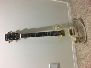 Acrylic left handed guitar.
