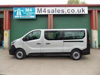 Vauxhall Vivaro 115ps LWB 9 Seat lwb Minibus. S/Nav & A/Con