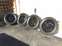 "18"" 6x139 Wheels - Black Truck Rims with Yokohama 285/55 Tires"