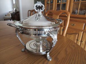 F B Rogers - Vintage Silver Plate Chafing Dish