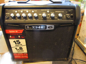 fender squier bullet strat and line 6 spider IV amp - $375