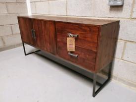 Furniture Village Fire 2 Door/2 Drawer Industrial Low Sideboard