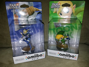 F/T sheik and toon link for wind waker Zelda + Link Amiibo