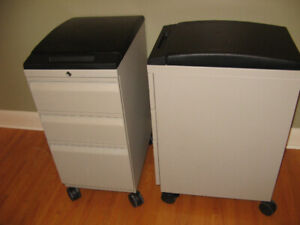 Mobile File storage 3 drawer Cushion seat heavy duty cabinets