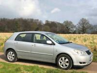 LEFT HAND DRIVE 2005 TOYOTA COROLLA 2.0 D-4D DIESEL 5DR MANUAL LHD SILVER
