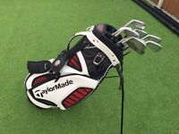 Taylormade TP golf clubs & stand bag