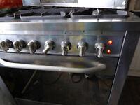 Baumatic 5 ring propane gas hob electric oven