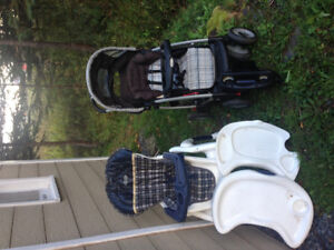 Graco high chair and stroller