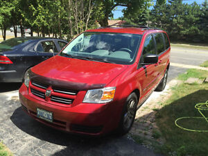 Wheelchair 2010 Dodge Caravan Red Minivan, Van