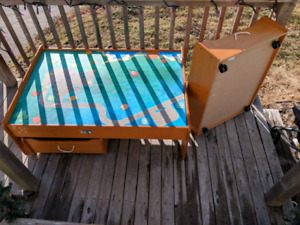 Train Table with Drawers