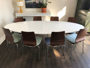 Oval Dining Table With 8 Chairs